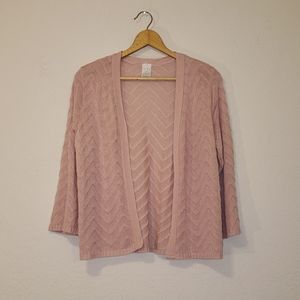 Time and Tru Bell Sleeve Cardigan
